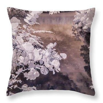 Lake Shadows Throw Pillow