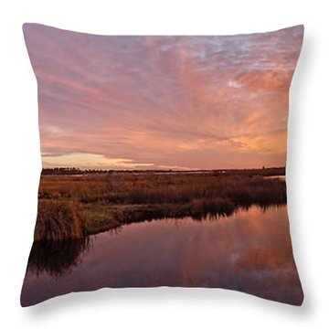 Throw Pillow featuring the digital art Lake Shelby Bridge by Michael Thomas