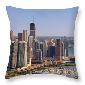 Lake Shore Drive Curve Chicago Throw Pillow