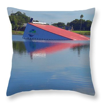Throw Pillow featuring the photograph Lake Silver Ski Jump by Chris Mercer