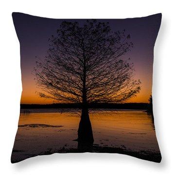 Lake Sunset Throw Pillow by Amber Kresge