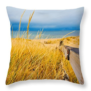 Lake Superior Beach Throw Pillow