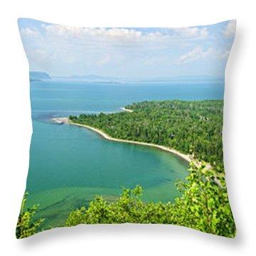 Lake Superior Panorama Throw Pillow