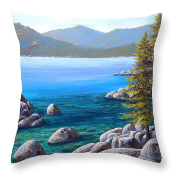 Lake Tahoe Inlet Throw Pillow