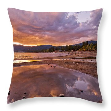 Throw Pillow featuring the photograph Lake Tahoe by Mae Wertz
