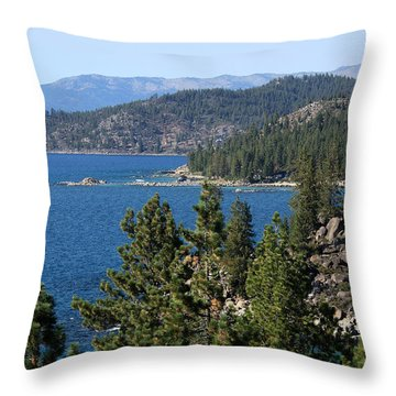 Lake Tahoe Nevada Throw Pillow