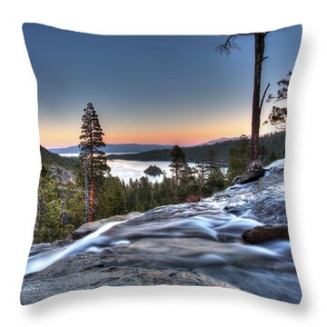 Lake Tahoe Sunset At Eagle Falls Throw Pillow