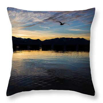 Lake Tahoe Sunset Throw Pillow