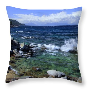 Lake Tahoe Wild  Throw Pillow