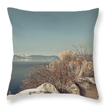Lake Tahoe Winter Throw Pillow by Kim Hojnacki