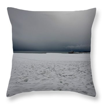 Lake Tahoe Winter Throw Pillow