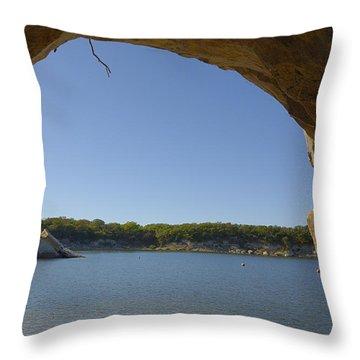 Lake Texoma Eisenhower State Park  Texas Throw Pillow by Charles Beeler