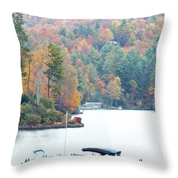 Lake Toxaway In The Fall Throw Pillow