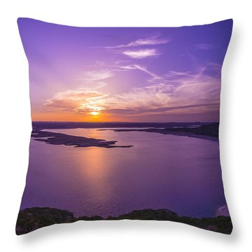 Lake Travis Sunset Throw Pillow