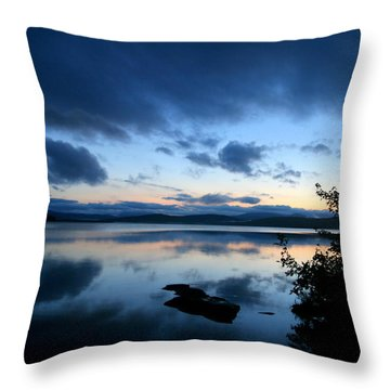 Lake Umbagog Sunset Blues No. 2 Throw Pillow by Neal Eslinger
