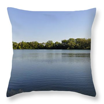 Throw Pillow featuring the photograph Lake Victory by Verana Stark