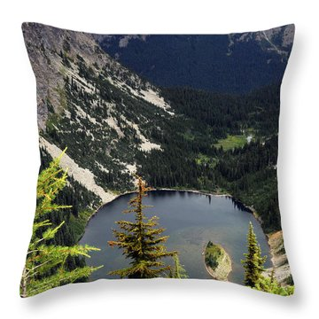 Lake View Throw Pillow by Rebecca Parker
