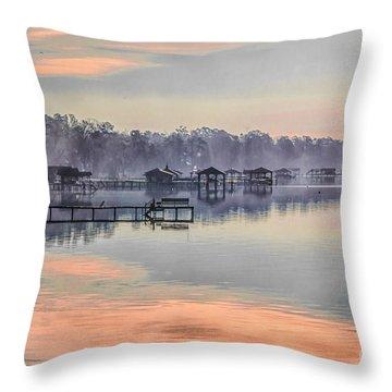 Lake Waccamaw Morning Throw Pillow