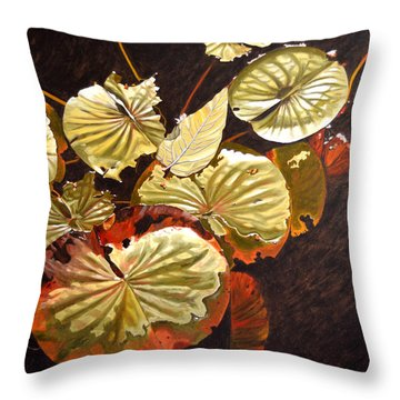 Lake Washington Lily Pad 11 Throw Pillow