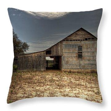 Lake Worth Barn Throw Pillow