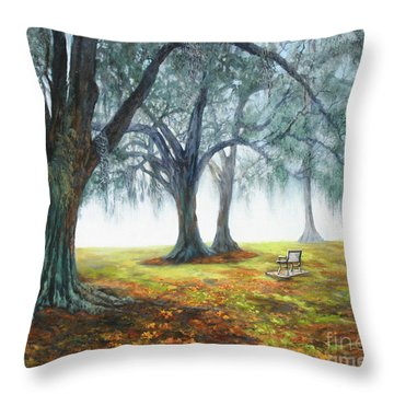 Lakefront Haze Throw Pillow