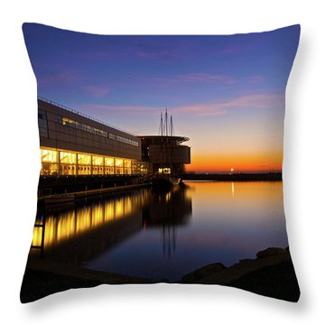 Lakefront Sunrise Throw Pillow by Jonah  Anderson