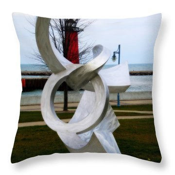 Lakeside Art Throw Pillow