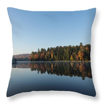 Lakeside Cottage Living - Peaceful Morning Mirror Throw Pillow