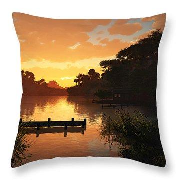 Lakeside Throw Pillow by Cynthia Decker