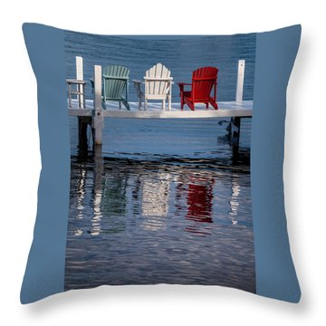 Lakeside Living Number 2 Throw Pillow by Steve Gadomski