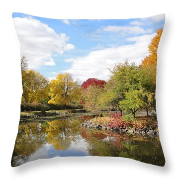 Lakeside Park Throw Pillow by Tiffany Erdman