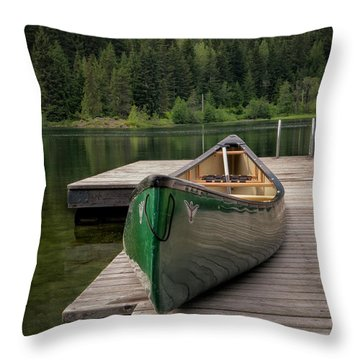 Lakeside Peace Throw Pillow by Jacqui Boonstra