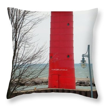 Lakeside Stroll Throw Pillow by Kay Novy