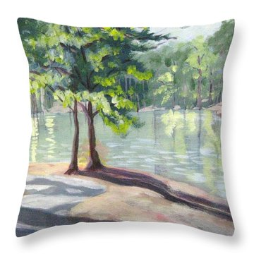 Lakeside Trail Throw Pillow by Gretchen Allen