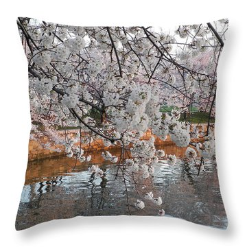 Throw Pillow featuring the photograph Lakeside by Yue Wang