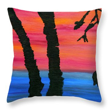 Lakeview Sunset Throw Pillow