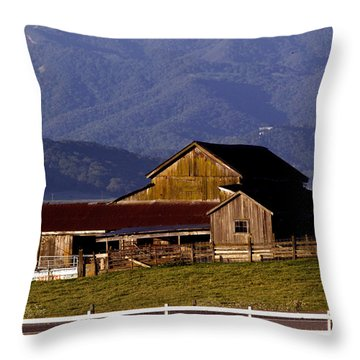 Lakeville Barn Throw Pillow by Bill Gallagher