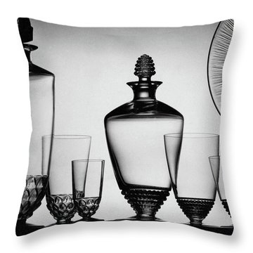 Lalique Glassware Throw Pillow