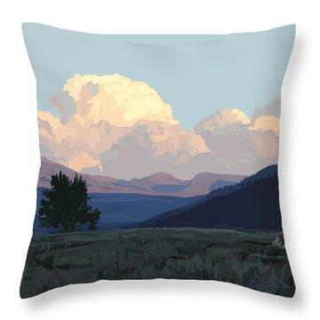 Lamar Distant Thunder Clouds Throw Pillow