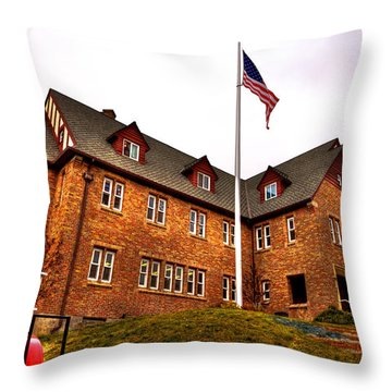 Lambda Chi Alpha Fraternity On The Wsu Campus Throw Pillow by David Patterson