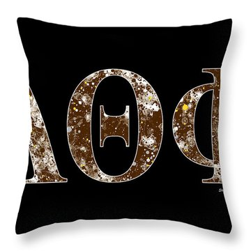 Throw Pillow featuring the digital art Lambda Theta Phi - Black by Stephen Younts
