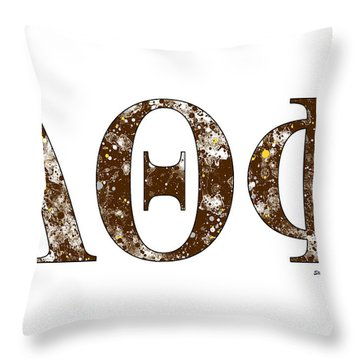 Throw Pillow featuring the digital art Lambda Theta Phi - White by Stephen Younts