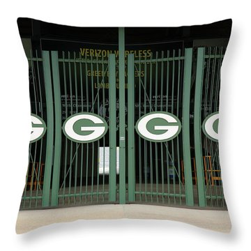 Lambeau Field - Green Bay Packers Throw Pillow