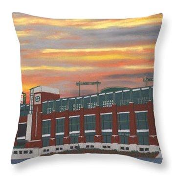 Lambeau Sunset Throw Pillow