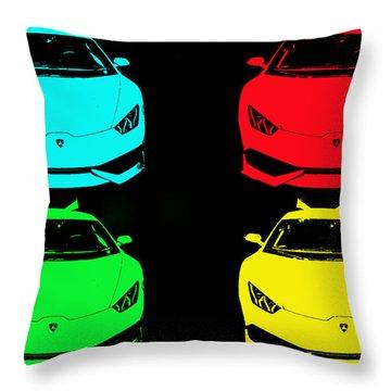 Lambo Pop Art Throw Pillow by J Anthony
