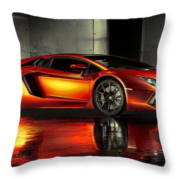 Lamborghini Aventador Throw Pillow