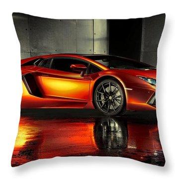 Lamborghini Aventador Throw Pillow by Movie Poster Prints
