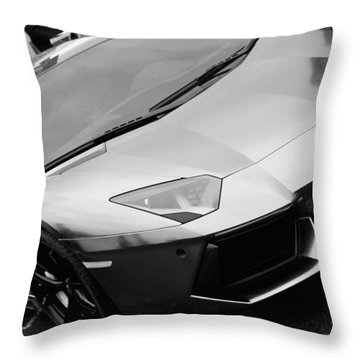 Black And White Shine Throw Pillow