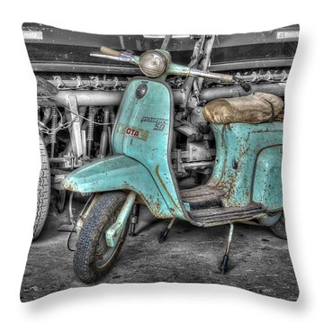 Lambretta Throw Pillow