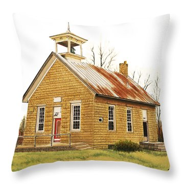 Lambson School Throw Pillow